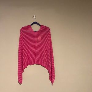 Lexi York Pink Striped Sparkle Poncho